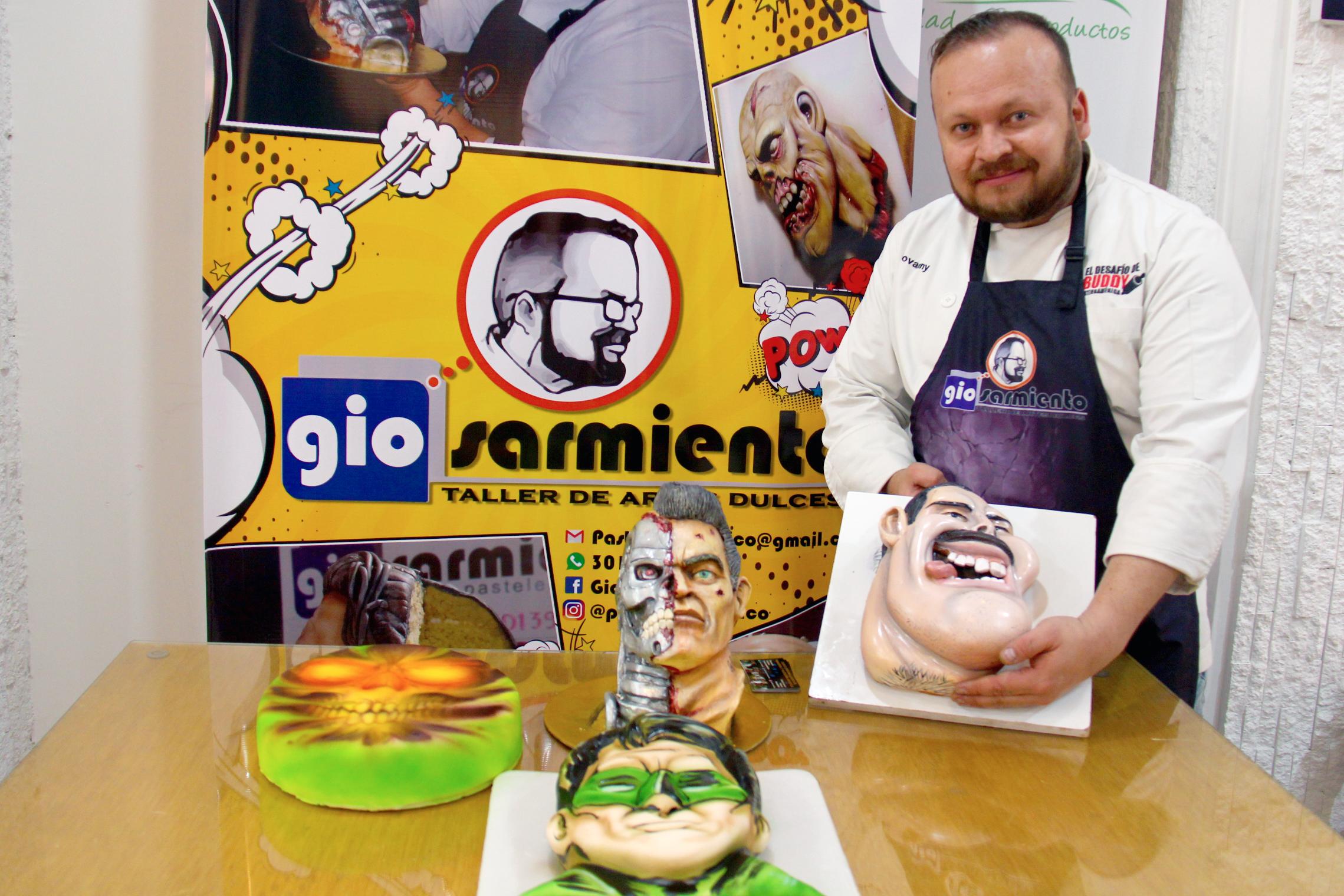 aerografía sobre pasteles